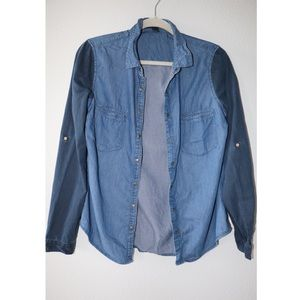 FOREVER 21 CHAMBRAY TOP